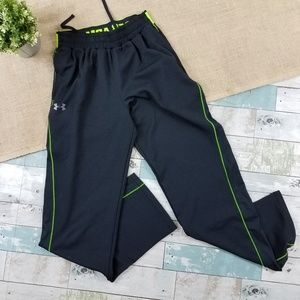 Under Armour NFL Combine Warmup Pants Black Lime